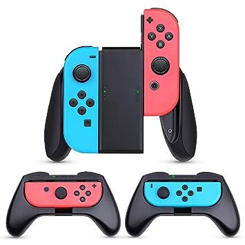 HEYSTOP Nintendo Switch Joy-con Grips (3 Piezas), Mando Joycon Grip Kit, Funda Protector Handle Kits para Mandos JoyCon Set de Nintendo Switch ...