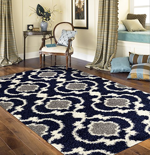 Trellis Indoor Shag Area Rug 5'3