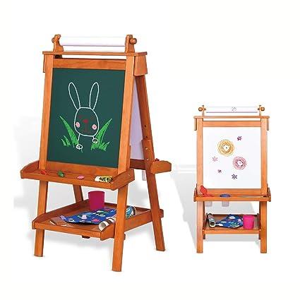 Tablero de Dibujo para niños Caballete de Madera Maciza de ...
