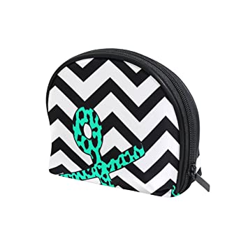 a705cd294c Amazon.com   LORVIES Leopardanchor Coral Chevron With Cosmetic Pouch Clutch Makeup  Bag Travel Organizer Case Toiletry Pouch for Women   Beauty