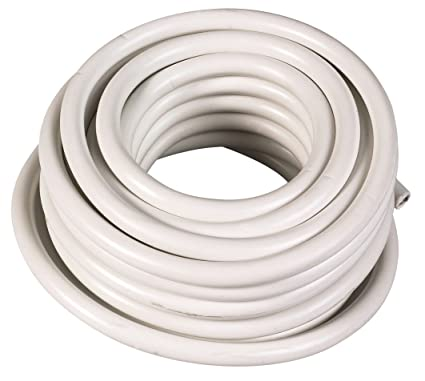 Electraline Cable flexible HO5VVF, 2 x 1 mm², rollo de 50 m, blanco