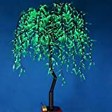 1.2m 4ft Height Artificial Willow Weeping tree Green Color Rainproof Indoor outdoor Christmas/Holiday/Garden/Party/Wedding Decor