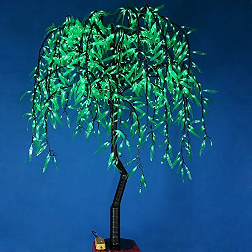 1.2m 4ft Height Artificial Willow Weeping tree Green Color Rainproof Indoor outdoor Christmas/Holiday/Garden/Party/Wedding Decor by Generic (Image #2)