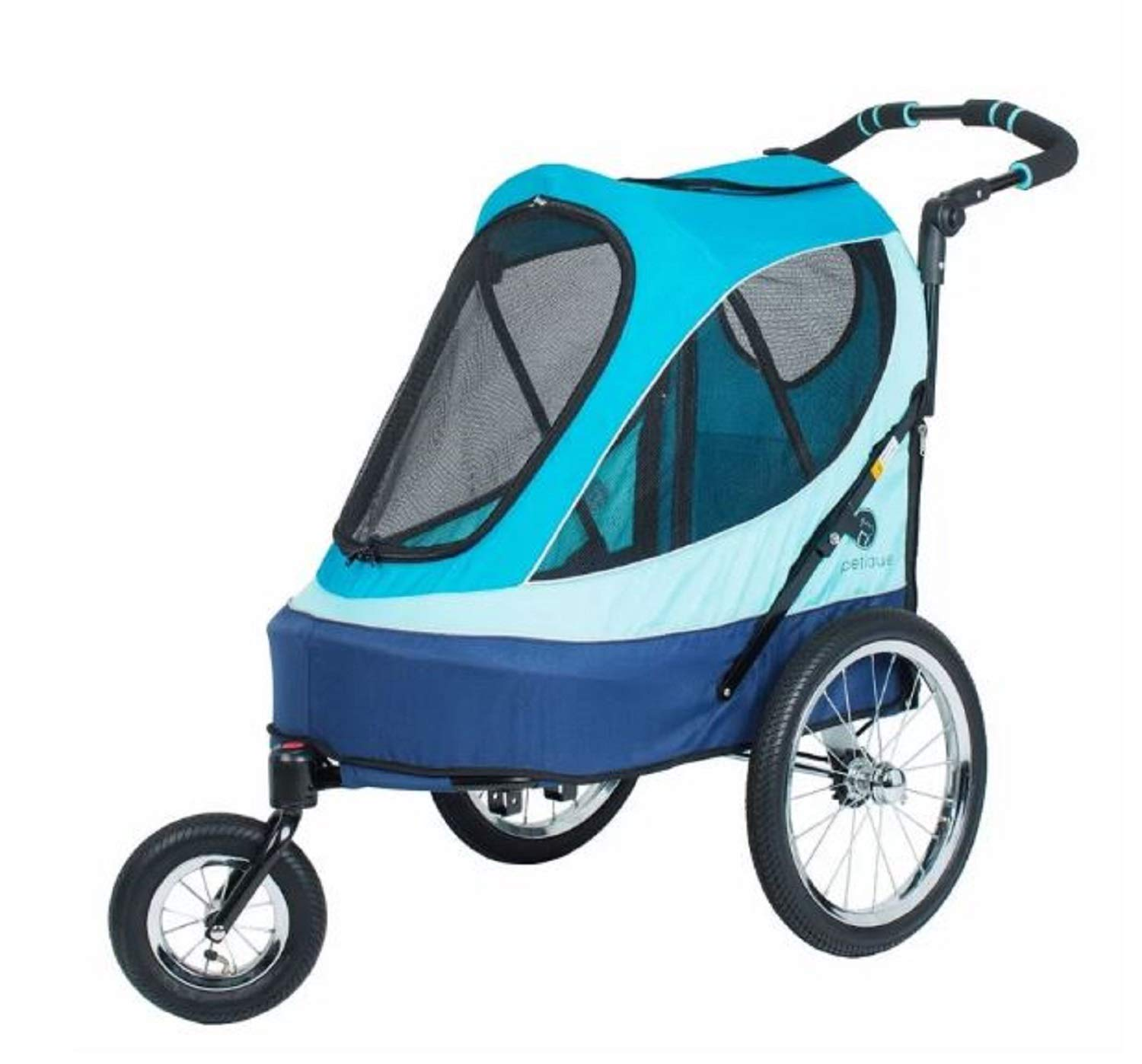bluee Pet Jogger Stroller. 60 lb. Weight Capacity Foldable Pet Jogger Stroller (bluee)