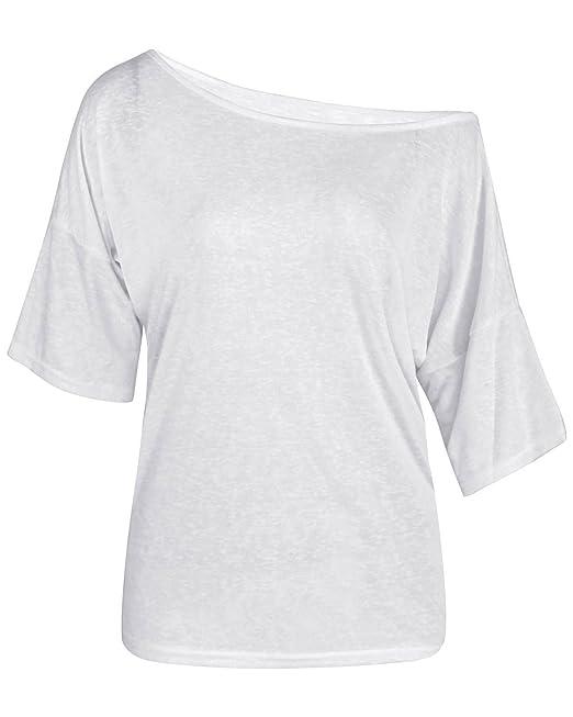 TININNA Moda Camiseta,Mujer Verano Casual Suelto Manga Corta Blusa de Las Tapas Ocasionales de la Camiseta Tops-Blanco S: Amazon.es: Hogar