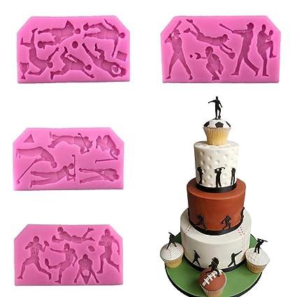 Amazon Com Silicone Sugar Cake Cupcake Mat Ball Sports Cake Border