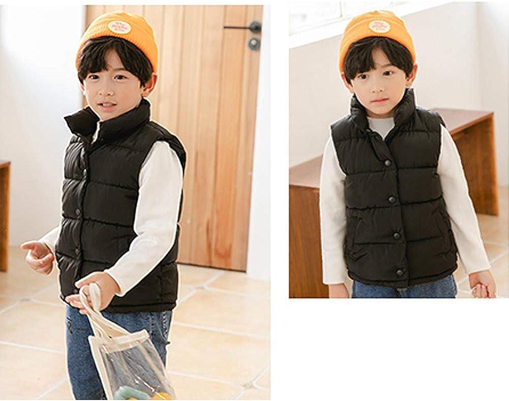 Kids Lightweight Sleeveless Jacket Waistcoat Baby Kids Boys Girls Puffer Down Vest Simple Warm Outwear Gilet