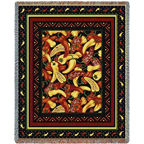"Pure Country Weavers ""Chili Peppers Blanket"" Tapestry Throw"