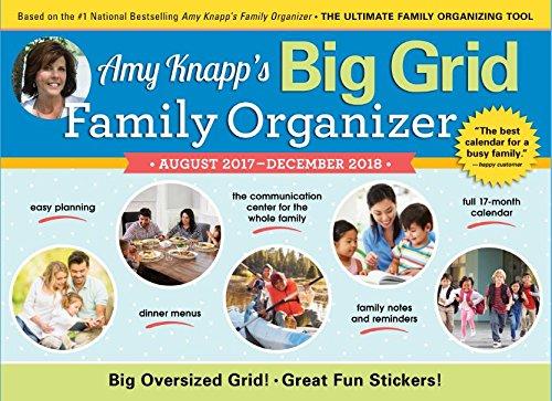2018 Amy Knapp Big Grid Wall Calendar: August 2017-December 2018