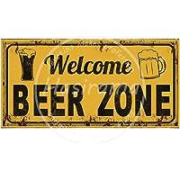 ECONG Welcome Beer Zone Letrero De Pared De