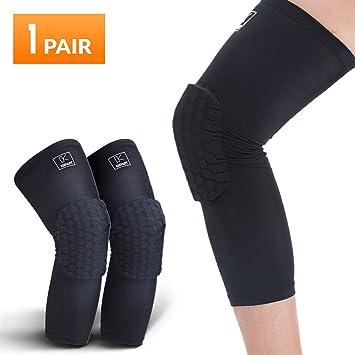 ec8ff3f5f6 Basketball Knee Pads, Compression Leg Sleeve (Medium)
