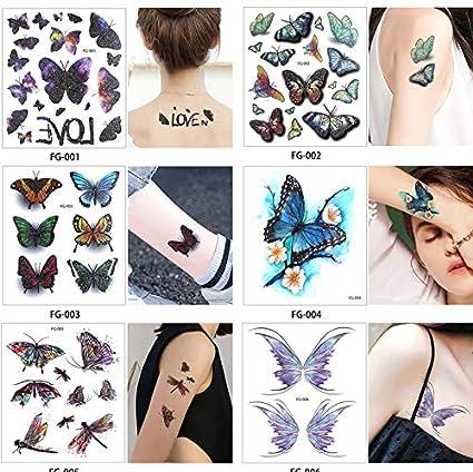 yyyDL Etiqueta engomada del tatuaje Hoja Brillo Cuerpo Tatuaje ...