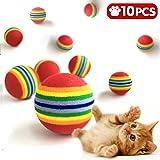 iNeith Gatti Palla Giocattolo Pet Cani Giocattoli di Masticazione Giocattolo Formazione Arcobaleno 10 Pezzi