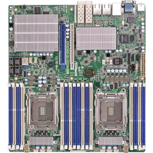 (ASRock Rack EP2C602-2L+2OS6/D16 Dual LGA2011/ Intel C602/ DDR3/ SATA3&SAS2/ V&4GbE/ SSI EEB Server Motherboard)