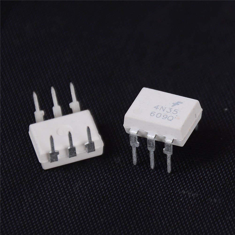 BloomGrün Co. 5PCS Weiß 4N35 DIP6 Dip Optoelektronische Kopplerkomponenten HICA