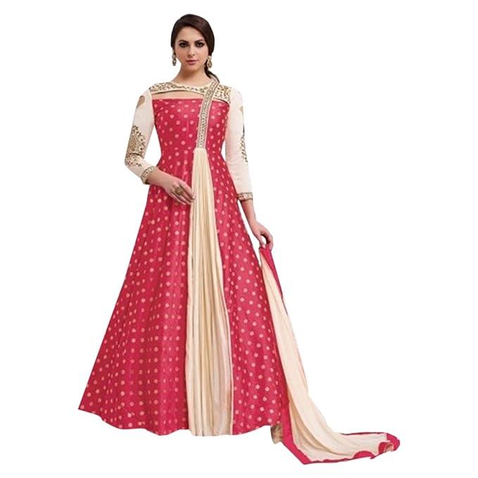 EMPORIUM ETNICO Abito su misura per abito lungo Musulmano Anarkali Salwar  Kameez Abito da sposa nuovo 90f3d625d56
