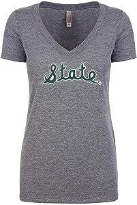 Nudge Nudge Printing Michigan State University Premium Tri Blend Women's V Neck T-Shirt