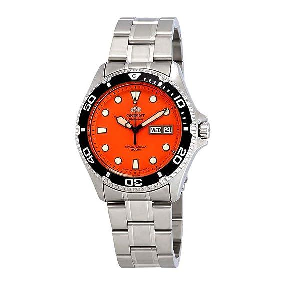 Orient Reloj Analógico para Unisex Adultos de Automático con Correa en Acero Inoxidable FAA02006M9: Amazon.es: Relojes