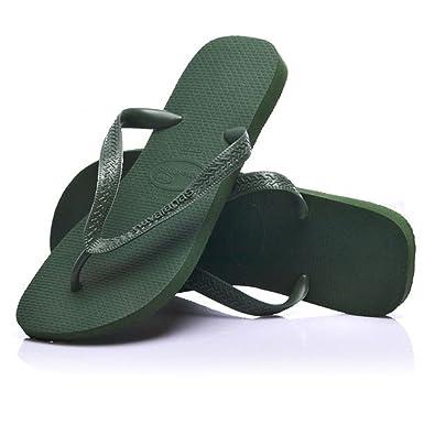 e5d003bf056eaa Havaianas Top Olive Green Flip Flops UK 8-9  Amazon.co.uk  Shoes   Bags
