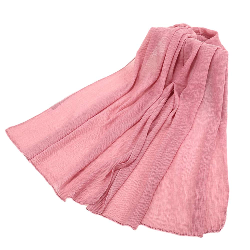 Jonecal Clearance Muslim Scarf Women Fashion Retro Cotton Multipurpose Shawl
