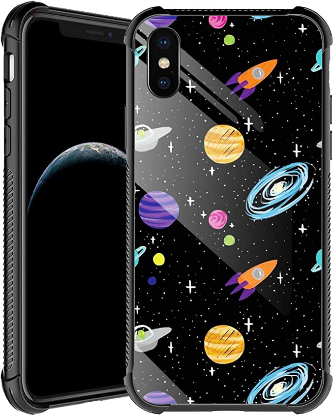 Universe World - Custodia per iPhone XR per uomo e ragazzo ...