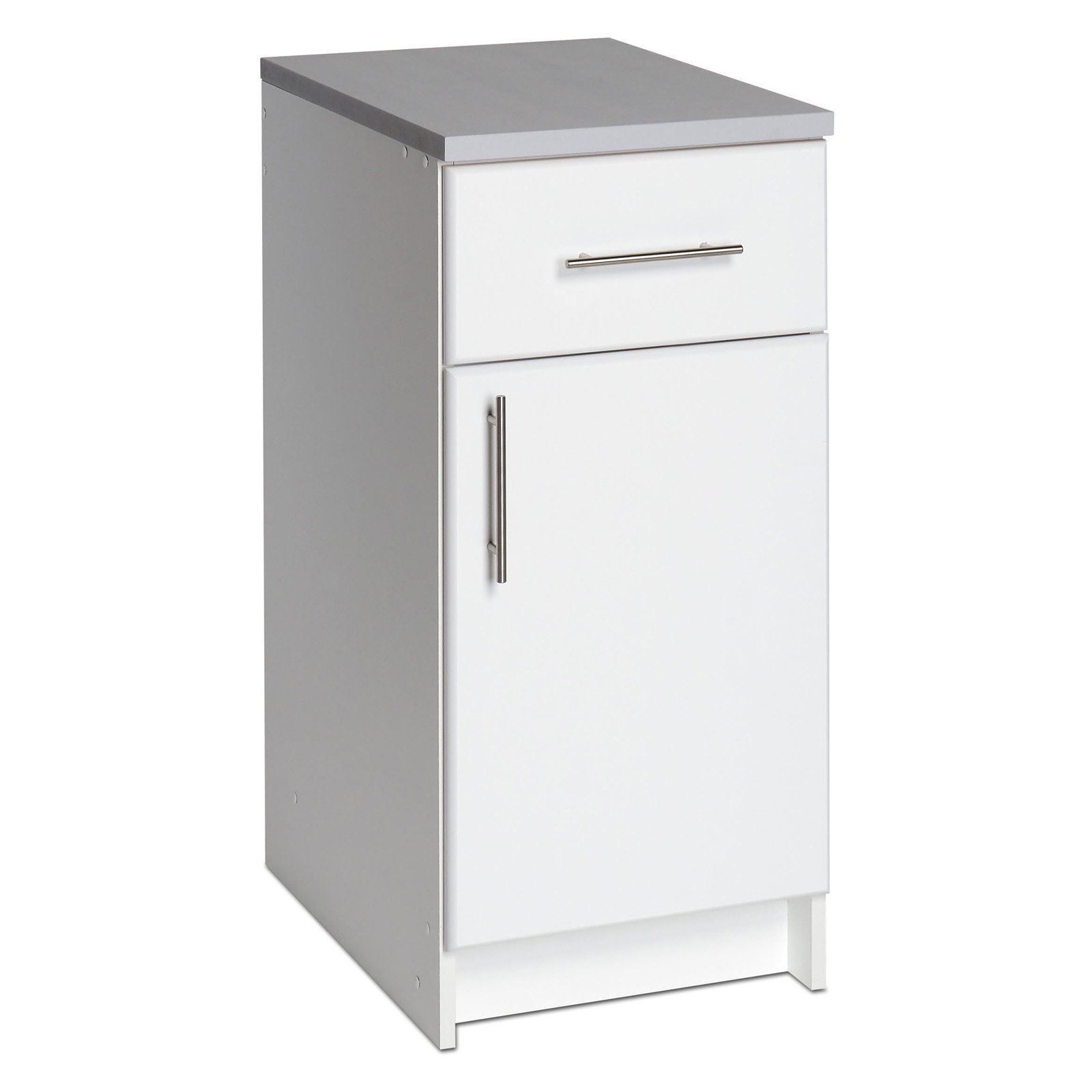 Prepac Elite 16 in. Single Door Utility Storage Base Cabinet - 36H in. (White) by Prepac