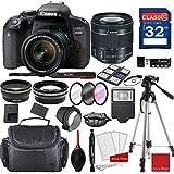 Canon EOS 800D Rebel T7i Kit with EF-S 18-55mm f/4-5.6 IS STM Lens + Professional Accessory Bundle