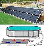 Garden&Park Above Ground Pool Solar Heater 48' x 20' 80 Sq Ft Inground