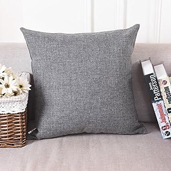 Home Brilliant Decoration Linen Euro Throw Pillow Sham Cushion Cover for Bench 26 x 26 & Amazon.com: Ikea Pillow Cover Cushion Sleeve 20 X 20\