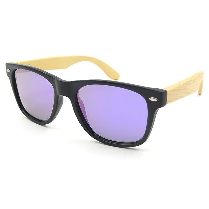 woodful madera gafas luz peso bambú pierna lentes polarizadas Gafas de sol Marco de plástico unisex morado morado: Amazon.es: Ropa y accesorios