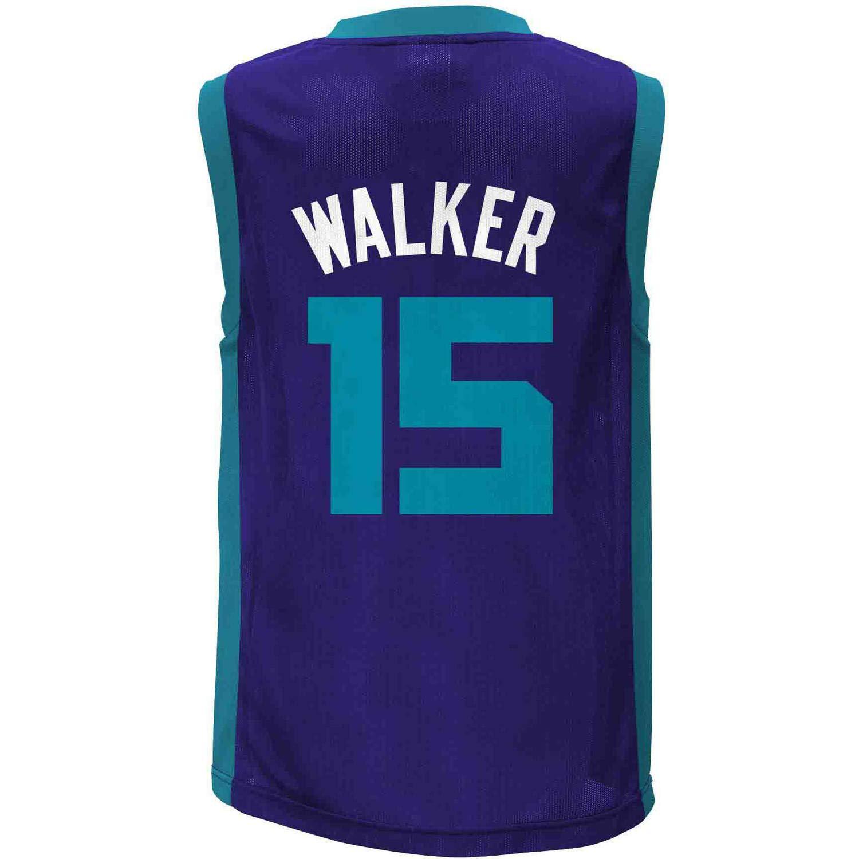 Kemba Walker Charlotte Hornets  15 Purple Youth Player Jersey ccc4b975b