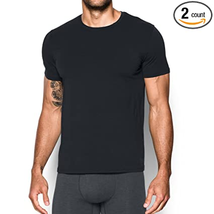0b241ead Amazon.com: Under Armour Charged Cotton Crew Undershirt – 2-Pack ...
