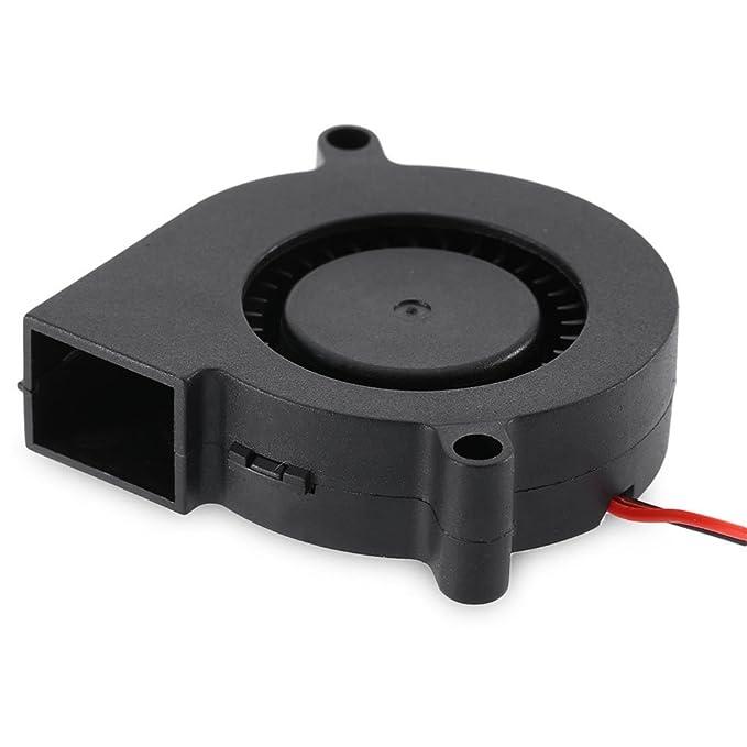 Lorsoul Pequeña Impresora 3D de Refrigeración de turbina Industria del Ventilador de Accesorios DC 12V 24V de Refrigeración para 5010