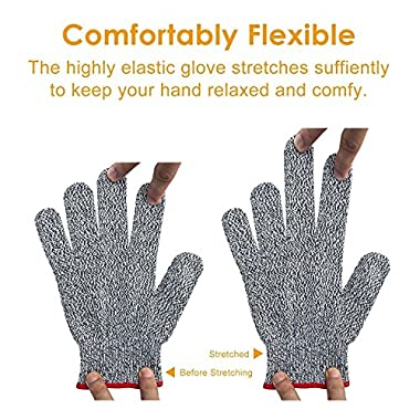 Venja New Kitchen Gloves Cooking Cut Resistant Gloves with Level 5 Protection Kitchen Glove Cutting Stand, Food Contact Safe Work Gloves 13