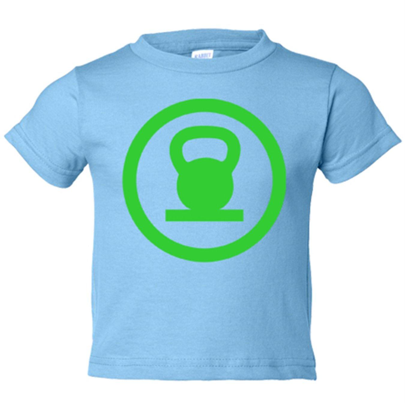 Camiseta niño Crossfit kettlebell Linterna Verde - Blanco, 3-4 años: Amazon.es: Bebé