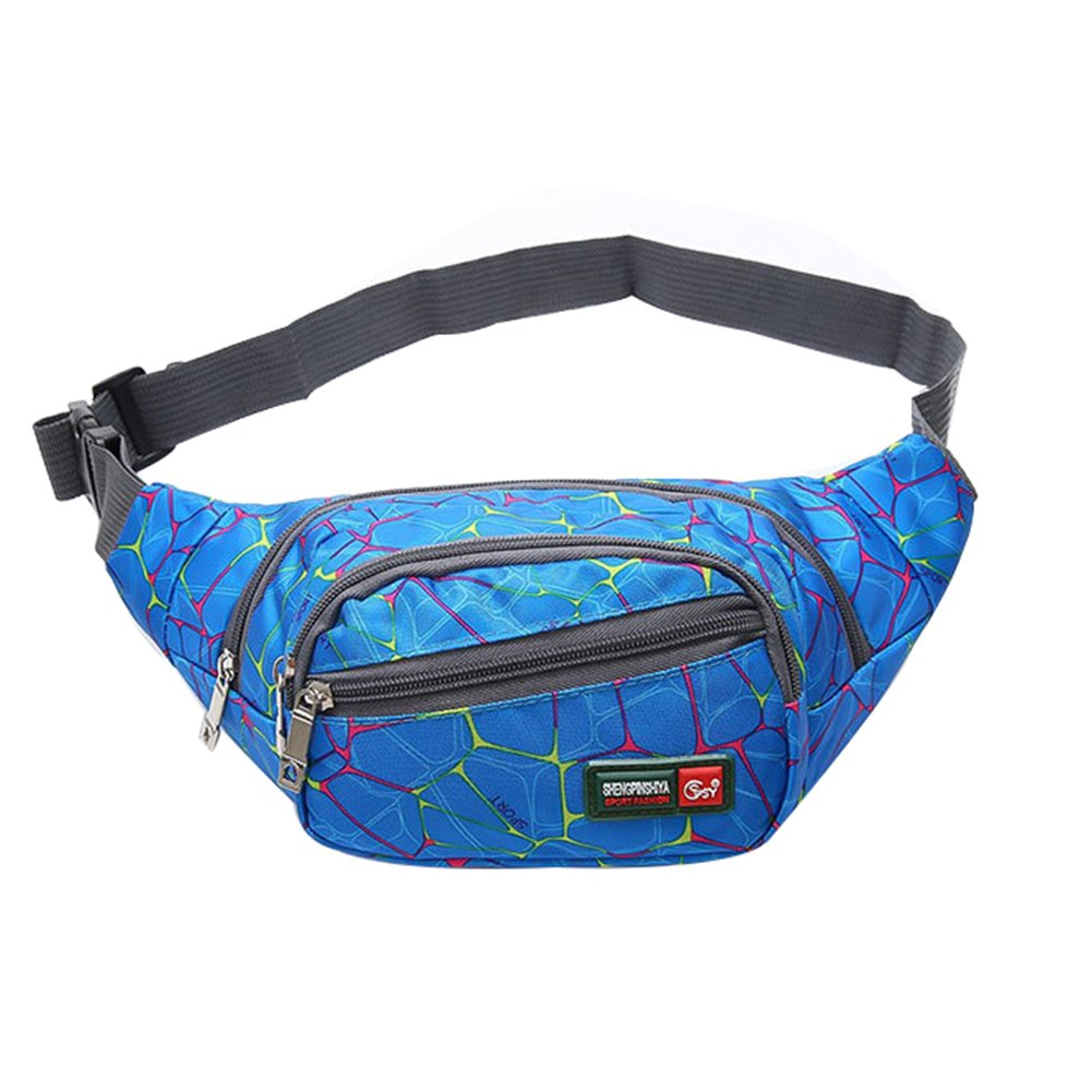 Rose Outflower Waist Pack Bag for Men Women Hip Bum Bag Casual Running Hiking Cycling Waist Packs