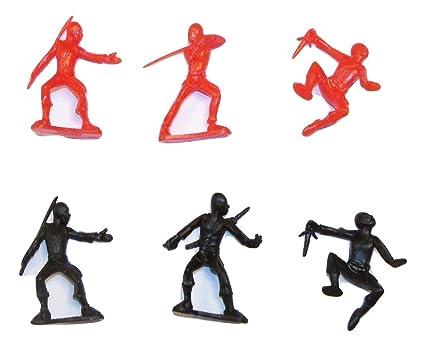 Amazon.com: Ninja Action Figure 12 Pack ~ Set of 6 Unique ...