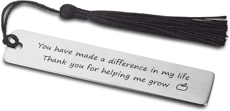 Marcapáginas CJ&M para profesor, regalo para profesor, regalo de agradecimiento para profesores, regalo de graduación para profesor, regalo de fin de año, marcapáginas para profesor