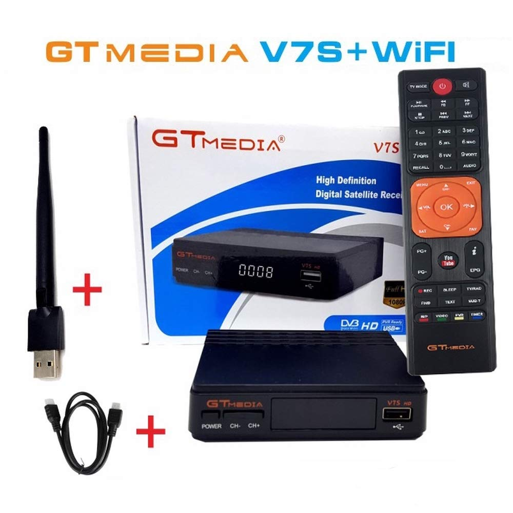V7 HD 1080P Digital Satellite TV Receiver DVB-S2 Satellite Decoder + USB  Wifi