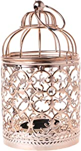 vegan Vintage Hollow Candle Holder Bird Cage Tealight Candlestick Hanging Lantern Home Wedding Bar Table Centerpiece Decor,Color 3