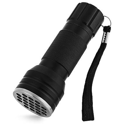 21 LED 395 nm linterna ultravioleta, detector de luz negra para orina de mascotas,