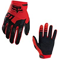 Full-Finger Racing Motorcycle Gloves MTB Bike Mittens Off-Road Riding Gloves Outdoor Sports Gloves (XL, Red)