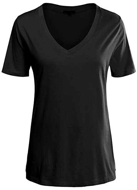 f7d8741dfb URBAN K Womens Plus Size Premium Basic V-Neck Short Sleeve Tops and Tees at  Amazon Women s Clothing store