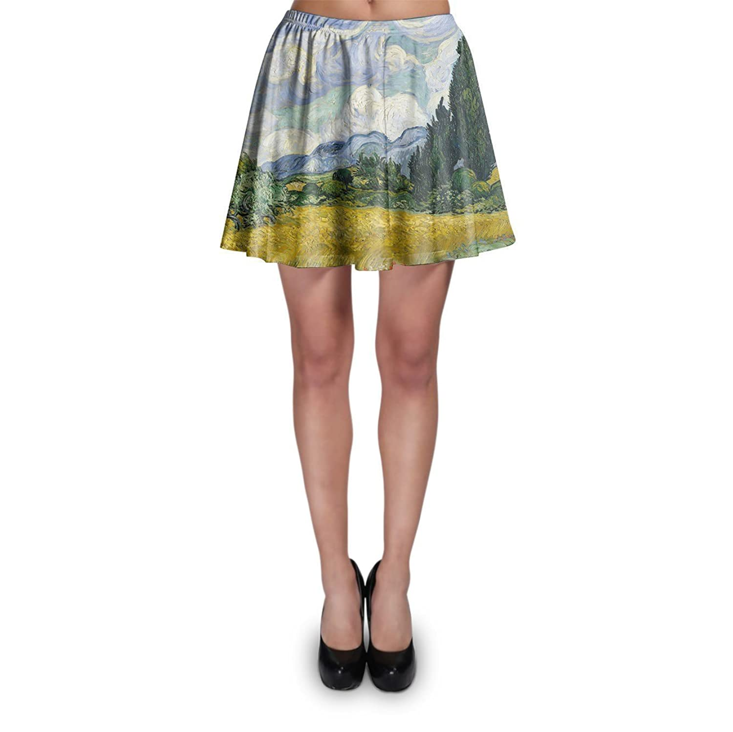 Vincent Van Gogh Fine Art Painting A-Line Skirt