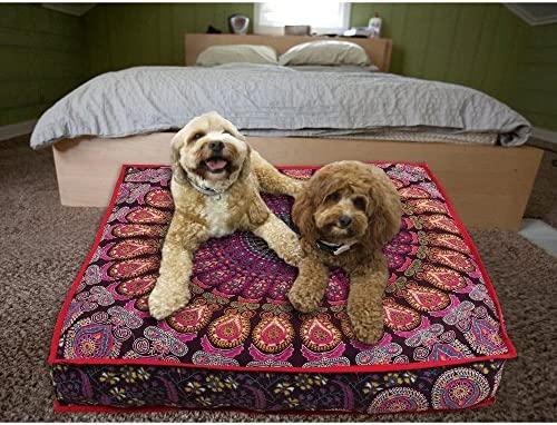 Almohada para el suelo de yoga, tapiz indio meditación ...