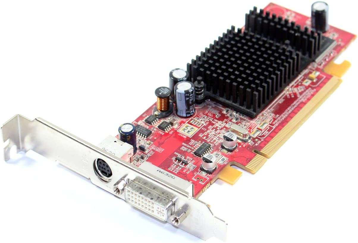 ATI Radeon X600 Dell H9142 128MB Installed Memory DVI / TV-Out (Svideo) Full Height (High Profile) Video Graphics Card, APIs Supported: OpenGL, and DirectX, Fits ALL Systems With a Full Height PCI-E Slot