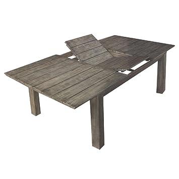 Tavolo allungabile 200/250cm in legno di acacia grigio Gray Old ...