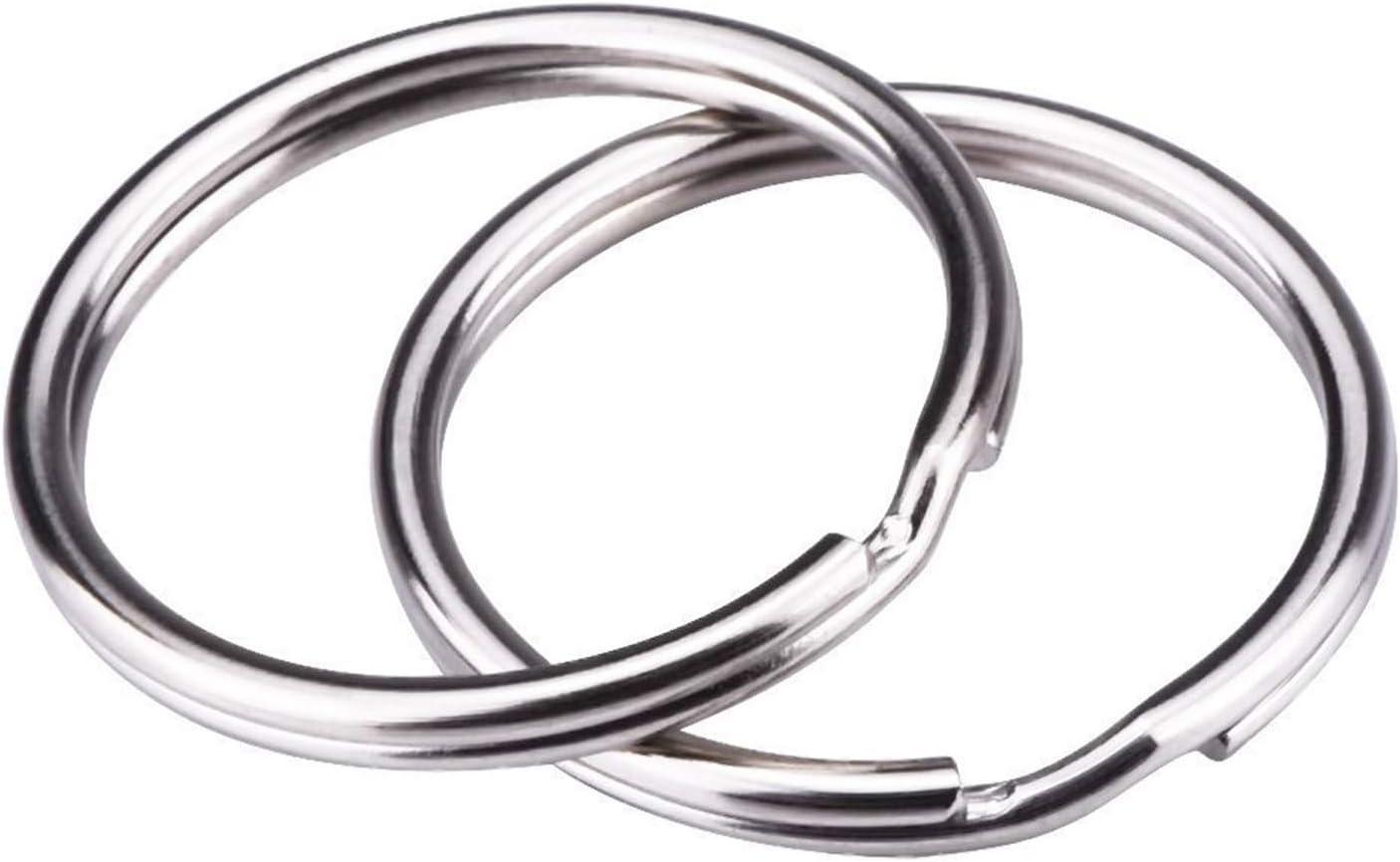 50 Stücke 25mm Split Ring mit Kette SCHLÜSSELANHÄNGER RUNDER RING