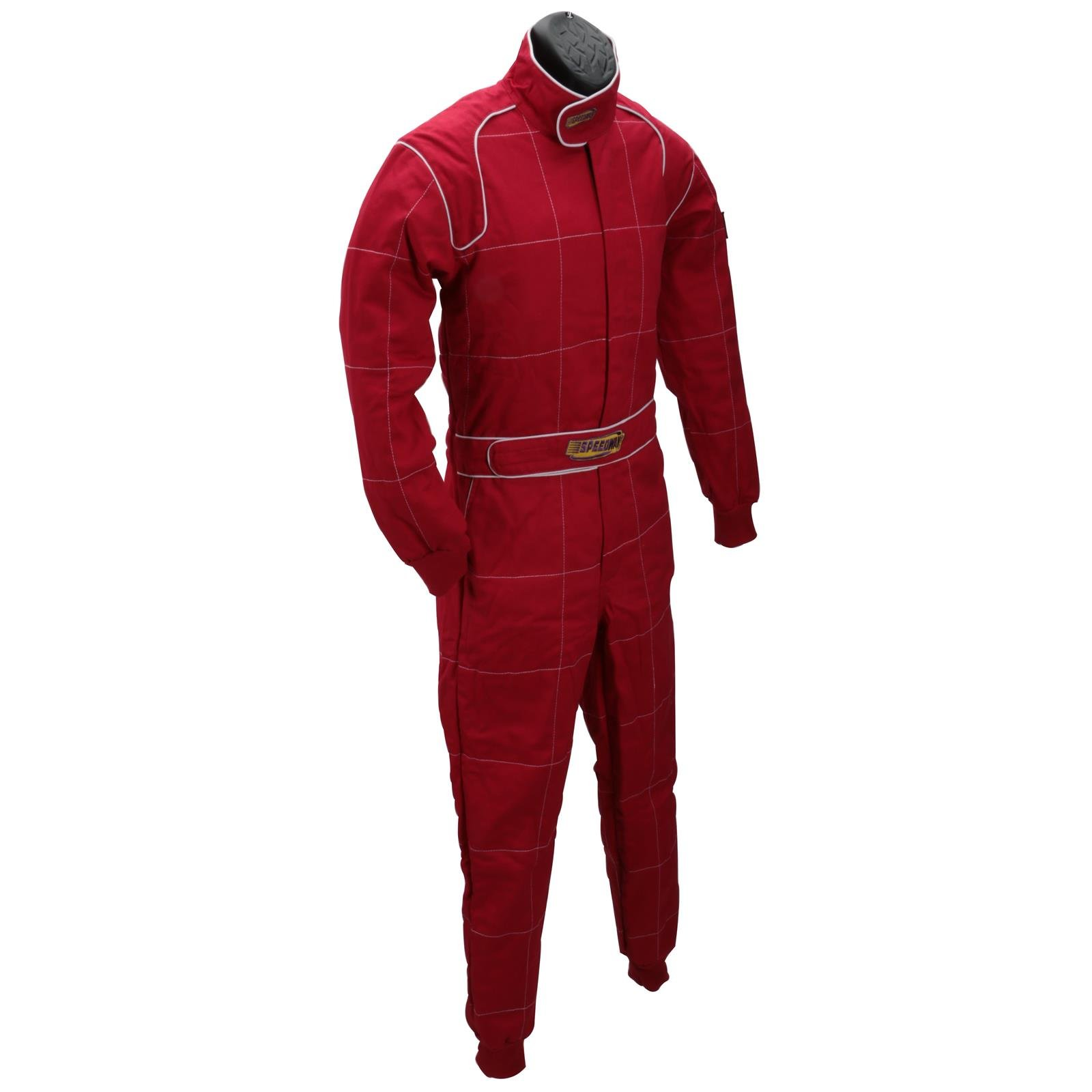 Black 2 Layer Racing Suit-One Piece-SFI-5 Rated, Medium by Speedway Motors