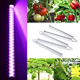 Lixada AC85-265V 120 LED Plant Grow Growth Light Lamp 30W 500LM T5 Tube for Indoor Hydroponic System Greenhouse Balcony Factory Farm